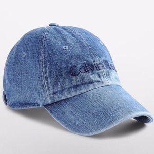 Calvin Klein Denim Baseball Cap